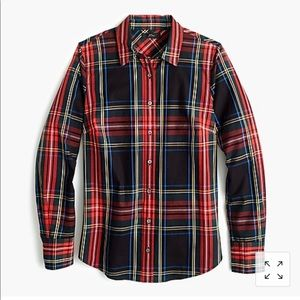 Jcrew plaid Holiday button down